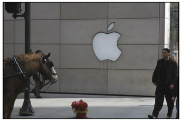 Apple Store, Michigan Avenue, with Horse