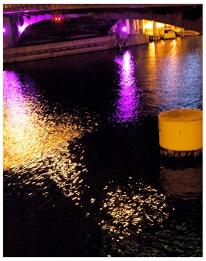 Chicago River Lights purple edition
