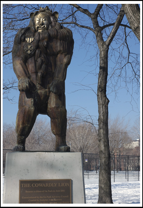 the Cowardly Lion at Oz Park, Chicago