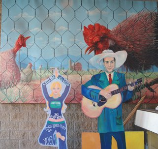 Hank Williams and Yoga chickens
