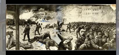 Haymarket Riot sketch