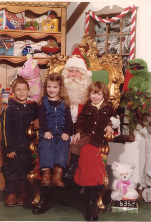 Katie And Andrew With Santa-1979-01