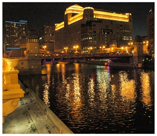 Merchandise Mart at Night