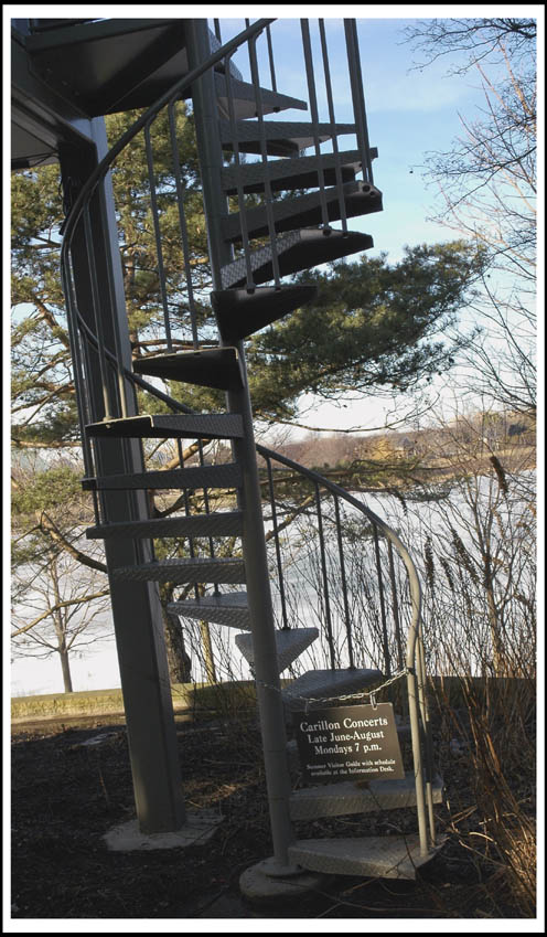 Spiral Stairs, taken at the Chicago Botanic Gardens