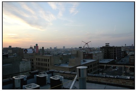 Rooftop sunset, part the 855