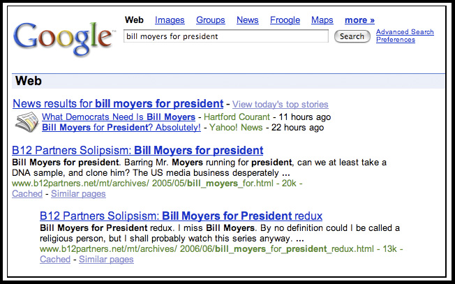 Bill Moyers For President