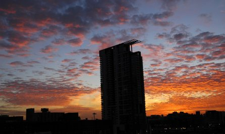 Chicago sunset series, Dec 20