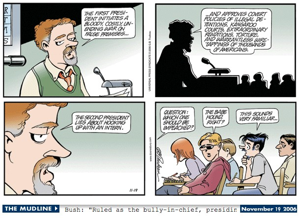 Doonesbury Impeachment Excerpt 11-19-06