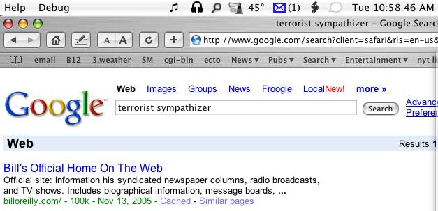 Bill O'Reilly Google Bomb