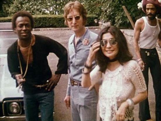 miles davis with  john and yoko